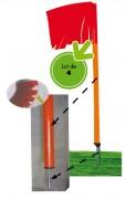 Poteau de corner flexible Hauteur 160 cm - Hauteur (cm) : 160
