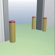 Poteau de protection entrepôt anti-choc - En technopolymère non toxique - 4 dimensions