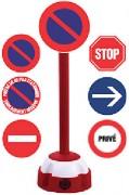Poteau de signalisation - Poteau disque de signalisation