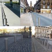 Poteau de ville en inox - Hauteur totale (m) : 1,20