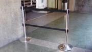 Poteau double sangle rétractable - Diamètre : 320 x 910 mm