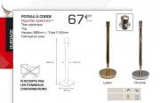 Poteau guidage à corde - Hauteur : 980 mm
