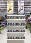 Poteau présentoir magasin en T