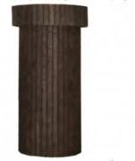 Poteau publicitaire en plastique recyclé - Lame forte (cm) : 50 x 50 x 50