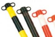Poteau support de chaîne - Poteaux fournis avec embouts pour fixer une chaîne