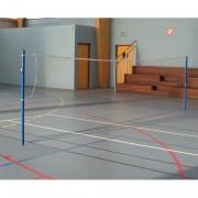 Poteaux badminton avec fourreaux - Jeu de 2 poteaux - Matière : Acier