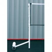 Poteaux badminton compétition 100 kg - Déport : 600 mm - Matière : Acier
