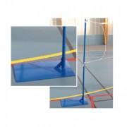 Poteaux badminton sur platine à lester