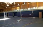 Poteaux d'entraînement de volley - Système de tension à taquet coinceur montés sur socle autostable