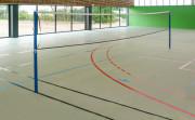 Poteaux de badminton pour entrainement - Tube acier carré 40 x 40 mm, plastifié