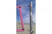 Poteaux de beach volley - Avec réglage 5 hauteurs de 2.00 mètre à 2.43 mètre