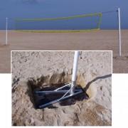 Poteaux de beach volley aluminium - Diamètre : 90 mm - Réglage simple des hauteurs de filet