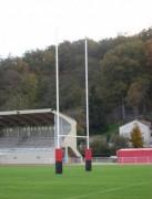 Poteaux de rugby métalliques - Métal galvanisé à chaud - Hauteur hors sol : 8 m