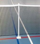 Poteaux de soutien pour filet de tennis - Métalliques - Poudrés blanc