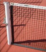 Poteaux de tennis à fourreaux - Acier galvanisé ou Bois  Exotique - Diamètre : Ø 90
