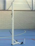 Poteaux de volley ball scolaires mobiles - Acier - Conforme à la norme EN 1509