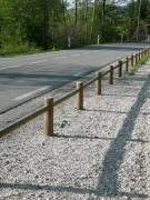 Poteaux en bois pour clôture - Dimensions (H x l) cm : 50 x 80 - 1 poteau tous les 2 mètres