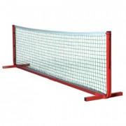 Poteaux et filet mini tennis - 2 poteaux en aluminium + 1 filet de 6 m