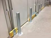 Potelet de protection acier pour porte industrielle - Potelet cylindrique pour protection angle des portes