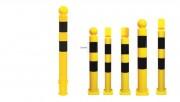 Potelet industriel flexible en polyuréthane - Diamètre : 80 mm - Hauteurs : 800 - 1000 mm