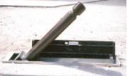Potelet rabattable caniveau - Hauteur maxi HS du potelet : 0,80 m.