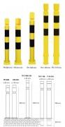Potelets industriel flexible - Forme cylindrique - Diamètre 80 et 100 mm