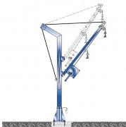 Potence de levage fixe à rotation 360° - Charge autorisée (kg) : 500