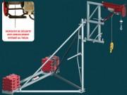 Potence de levage lestable - Charge maximale d'utilisation : 200 kg