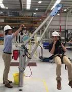 Potence de levage pliable en aluminium - Capacité : de 600 kg à 1200 mm de portée