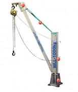 Potence de levage ultalégère - Capacité de levage : 1000 kg - Rotation 360°