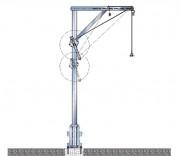Potence de station d'épuration en alliage alu - Charge autorisée (kg) : 160