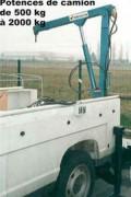 Potence électrique pour camion - Force de levage : 2000 kg