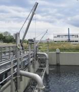 Potence station d'épuration 550 kg - Charge : 550 Kg - Longueur du câble : 12 m - Rotation : 360°