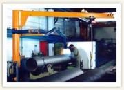 Potence sur fût à rotation manuelle partielle portée 10 mètres - Portée : 10 m - Potence type RPI