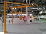 Potence sur fût palan électrique ou manuel - Capacité : de 50 kg à 10 tonnes