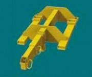 Potence télescopique pour chariot élévateur - CMU (t) : «1T à 2m50 2T à 1m