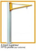 Potences à tirant supérieur sur colonne à Rotation 270°