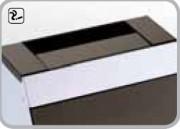 Poubelle à ouverture basculante - Capacité : 40 L - Dimensions (L x l x H) cm : 33 x 23 x 78