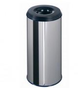 Poubelle à papier inox - Volume:110 litres.