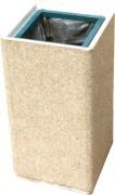 Poubelle béton gravillons lavés ou blanc sablé - Capacité des sacs : 80 litres