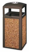 Poubelle cendrier en gravier - Capacité : 50 litres - Dimensions (L x l x H) cm : 91 x 40 x 40 x 91