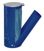 Poubelle compacte en tôle d'acier galvanisé - Dimensions (HxLxP) mm : 850 x 440 x 380