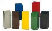 Poubelle conteneur tri séléctif - Capacité : 76 L - Dimensions : 405 x 405 x 910 mm - Coloris au choix