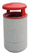 Poubelle cylindrique en béton armé - Avec ou sans cendrier