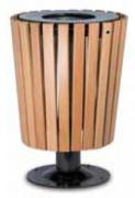 Poubelle d'extérieur en bois - Capacité (L) : 50