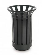 Poubelle d'extérieur en fer - Capacité : 15 - 25 litres