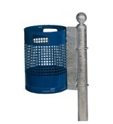 Poubelle d'extérieur tubulaire ou murale - Capacité (L) : 30