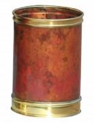 Poubelle d'intérieur à papier - Cuivre brûlé avec bordure en laiton