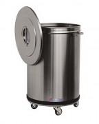 Poubelle d'intérieur inox - Capacité : 50 ou 100 Litres