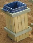 Poubelle de ville en bois - Capacité : 30 litres
